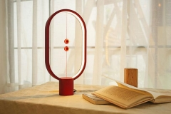 Heng Balance Lamp magnetic buffeting web celebrity desk Lamp bedroom bedside small night light red As shown in figure 5w