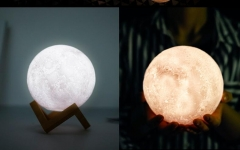 Usb Nightlight Moon Lantern Gift Creative Product LED Bedlight Moon Lantern white 8cm 5w