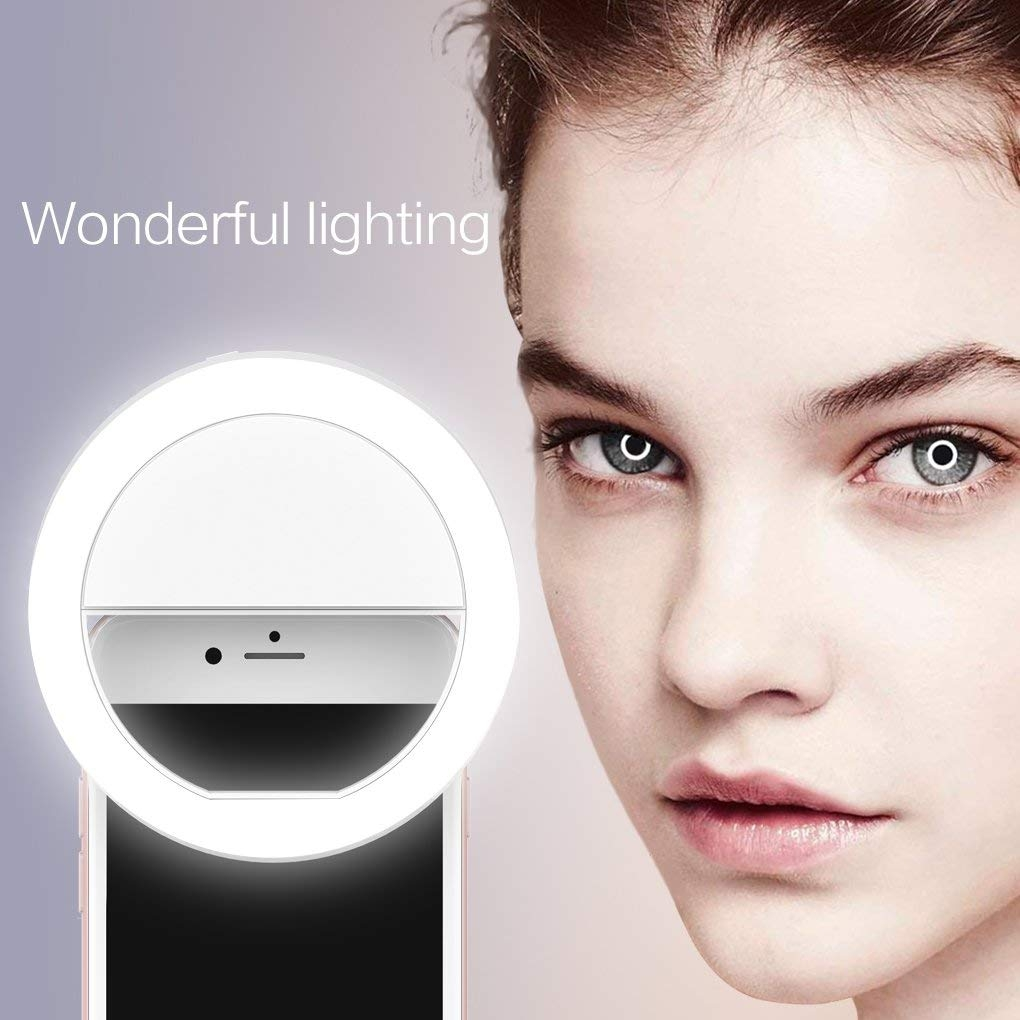 phone selfie camera ring light with rechargeable 36 led
