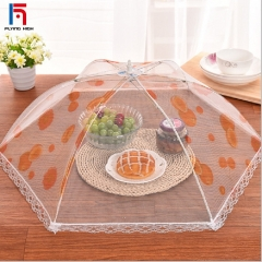 FAFT Home & Living Fashion lace mesh folding food cover table cover meal cover red uniform code