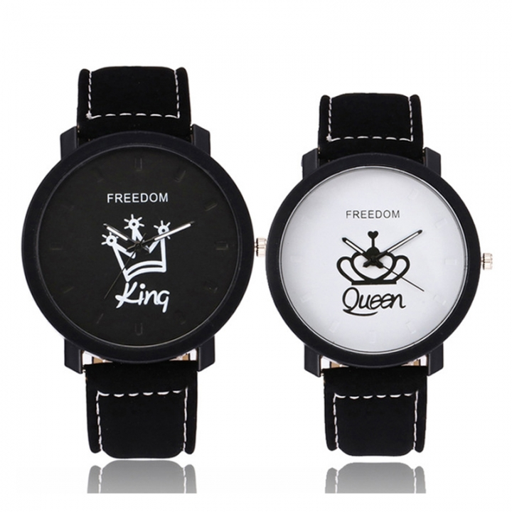 World Best Selling Women Men Lovers Couple Crowns King or Queen Watches Valentines Gift King+Queen