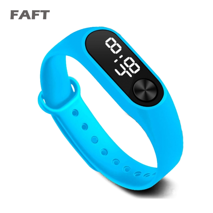 COAF  M2 sport watches touch white light men women multicolor bangle watch Sky Blue