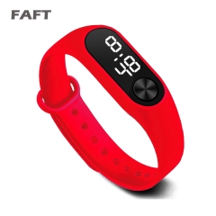 COAF  M2 sport watches touch white light men women multicolor bangle watch Red