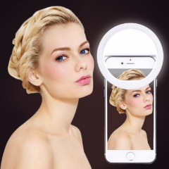 USB Charging Selfie Portable Flash Led Photo Ring Light Enhancement Photography IPhone Smartphone White 86*27 mm general none