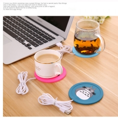 FAFT USB Heater Accessories Silicone Thin Coasters Coffee Tea USB Heater Tray Coasters Gift blue uniform code