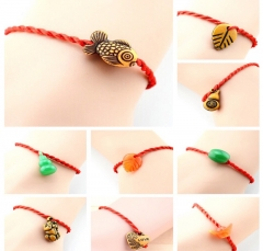 Chinese style jewelry lucky red rope bracelet Random free size