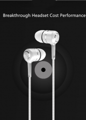 The Universal Headset Is Available On Apple's Android Smartphone With In-Ear Phone Calls White
