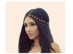 Street Shoot Fashion Ultra Shiny Piece Tassel Chain Head Chain as picture one size