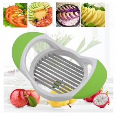 AG Home Slicer French Fries Potato Slicer Fruit Slicer Vegetable Cutter Chipper Easy Grip Green with White See the Details