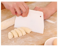AG Home AG Home Plastic Pizza Dough Pastry Cake Cutter Scraper Flexible White 13.5*9.5cm
