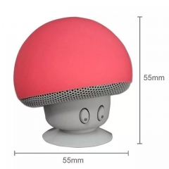 Item: XMG New design mushroom style wireless music bluetooths speaker mini blue tooth speaker red 5.5*5.5cm