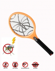 Rechargeable Electric Mosquito Swatter with LED Light Insect Pest Bug Fly Zapper Swatter Hand Racket ORANGE 75*22*1.3CM