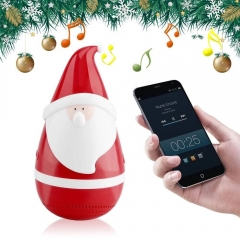 KT08 Portable Mini Santa Claus Father Christmas  New Gift tumbler bluetooth speaker red 7.3*6.7*14.4cm