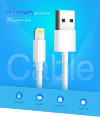 Item: SJY007 MFi Lightning to USB Cable for iPhone  7 6 Plus Fast Charging Data Lightning white 1m