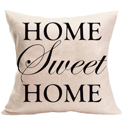 English Letters Print Sofa Pillow Case for Car Office Bedding Home Sofa Cushion Pillow Cover 5 44*44 cm