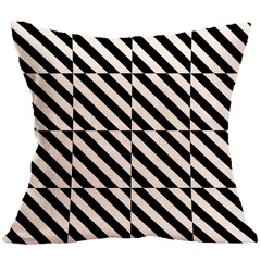 Black and White Geometric Pattern Pillowcase for Car Office Bedding Home Sofa Cushion Pillow Cover 4 44*44 cm