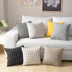 Nordic Fresh Style Pillowcase for Home Sofa Chair Cushion Pillow Cover 1 44*44 cm