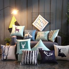 Nordic Style Sofa Pillow Case for Car Office Bedding Home Sofa Cushion Pillow Cover Pillowcase 1 44*44 cm