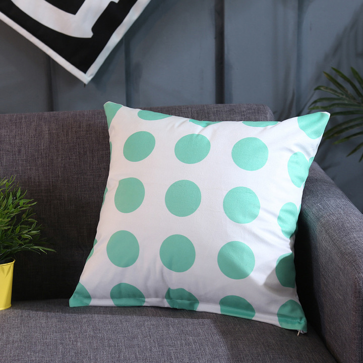 Nordic Style Flannelette Sofa Pillowcase for Car Office Bedding Home Sofa Cushion Pillow Cover 4 44*44 cm