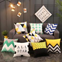 Nordic Style Flannelette Sofa Pillowcase for Car Office Bedding Home Sofa Cushion Pillow Cover 1 44*44 cm