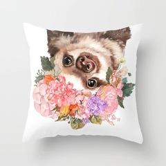 Cartoon Animals Pillow Case Giraffe Alpaca for Home Bedding Sofa Cushion Pillow Cover Pillowcase 6 44*44 cm
