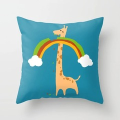 Cartoon Animal Cute Pillowcase for Home Beddding Sofa Cushion Pillow Cover 8 44*44 cm