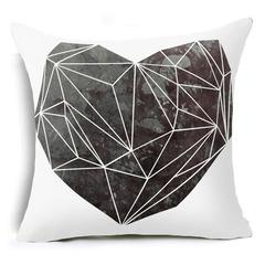 Blue Tone Geometric Pattern Nordic Style Sofa Pillowcase Home Bedding Sofa Cushion Pillow Cover 9 44*44 cm
