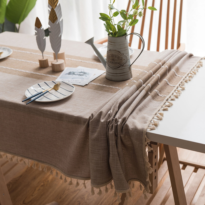 Kilimall & Cotton and Linen Tablecloth Fresh Style Dining Table Cover Coffee Table Cloth 1 100*140 cm
