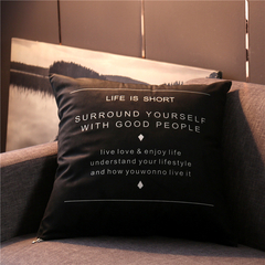 Nordic Style Pillow Covers Sofa Cushion Bedding Pillow Car Seat Office Nap Chair Backrest Pillowcase 4 44*44 cm