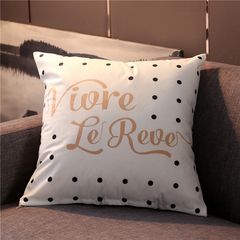 Nordic Style Pillow Covers Sofa Cushion Bedding Pillow Car Seat Office Nap Chair Backrest Pillowcase 2 44*44 cm