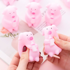 Creative Cartoon Animals Plastic Venting Toys Tricky Squeezing PinchToy Adults Pressure-relief Toys Big Pink Pig as pictures