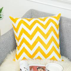Nordic Style Warm Color Yellow Gray Geometric Stripe Pillowcase Sofa Cushion Bedding Pillow Covers 15 45*45 cm