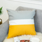 Nordic Style Warm Color Yellow Gray Geometric Stripe Pillowcase Sofa Cushion Bedding Pillow Covers 6 45*45 cm