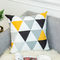 Nordic Style Warm Color Yellow Gray Geometric Stripe Pillowcase Sofa Cushion Bedding Pillow Covers 12 45*45 cm