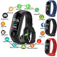 Bluetooth Smart Band Sports Wristband Bracelet Heart Rate Blood Pressure Bluetooth Smart Watch Black