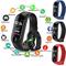 Bluetooth Smart Band Sports Wristband Bracelet Heart Rate Blood Pressure Bluetooth Smart Watch Black