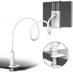 Universal Holder Spiral Bracket for Phones Tablets Phone Pads Holder Stand 360 Degree Rotating White for pads & phones none none