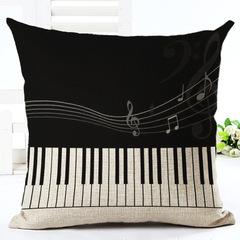 Classic Style Cotton Linen Pillow Case Cushion Cover Home Bedroom Sofa Office Car Lumbar Pillowcase 1 45*45 cm