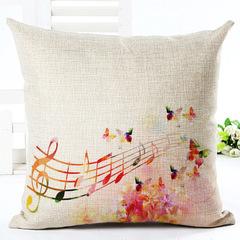Classic Style Cotton Linen Pillow Case Cushion Cover Home Bedroom Sofa Office Car Lumbar Pillowcase 14 45*45 cm