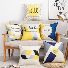 Nordic Geometric Sofa Pillowcase Modern Style Car Bedding Home Sofa Cushion Pillow Case Cover 1 45*45 cm