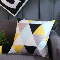 Nordic Style Home Decoration Textile Living Room Sofa Pillowcase Modern Flannel Pillow Cushion Cover 1 45*45 cm