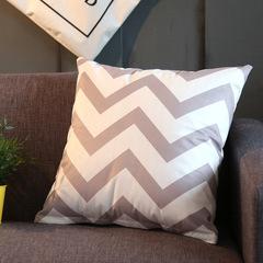 Modernism Flannel Pillow Case Nordic Home Living Textile Geometric Sofa Cushion Cover Pillowcase 8 45*45 cm