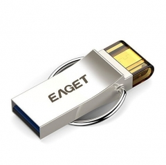 Eaget V90 16G 32G 64G Flash Disk Keychain Micro USB OTG Memory Stick Waterproof Shockproof as the picture V90 16gb flash drive