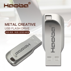 USB Flash Drive 64gb pendrive 32GB Metal Pendrives Memory Stick Storage Device Memoria U Disk silver usb 2.0 4gb flash drive