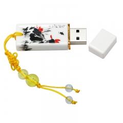 Design China Porcelain Plastic usb flash drive ceramic gift pen drive 8G16G32G64G pendrive usb stick black usb 2.0 4gb flash drive