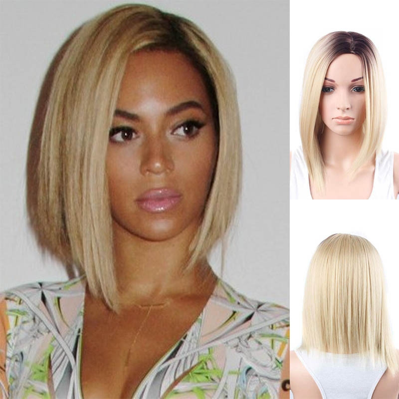 13x4 Lace Front Wigs Ombre Human Hair Wig Honey Blonde Brazilian