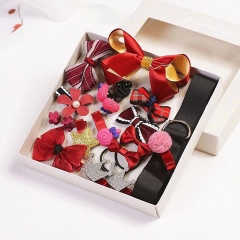 2018 New 18pcs Girl's Fashion Hair Accessories Sales Promotion Only 100 Opportunities Not To Miss red onesize