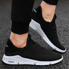 New Sports Shoes 2019 Summer Air-permeable Men's Leisure Shoes Air-permeable Running Shoes black 39