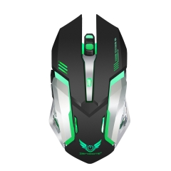 2.4G charging wireless mouse gaming mouse built-in 600 mAh Black one size
