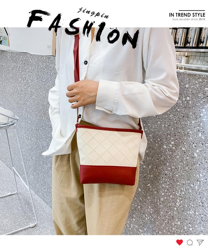 jingyu Ladies bucket bag red one size